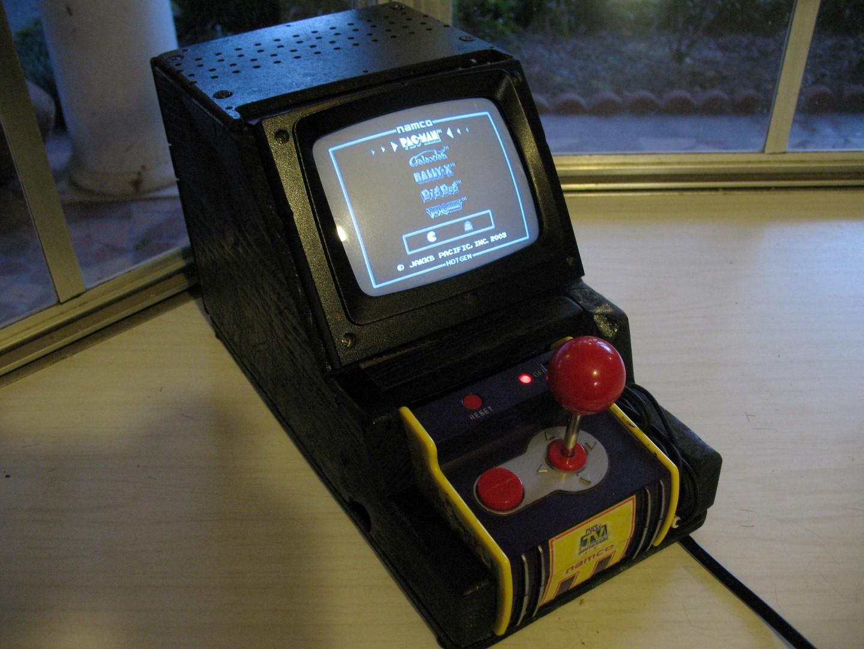 how to build a mini arcade machine