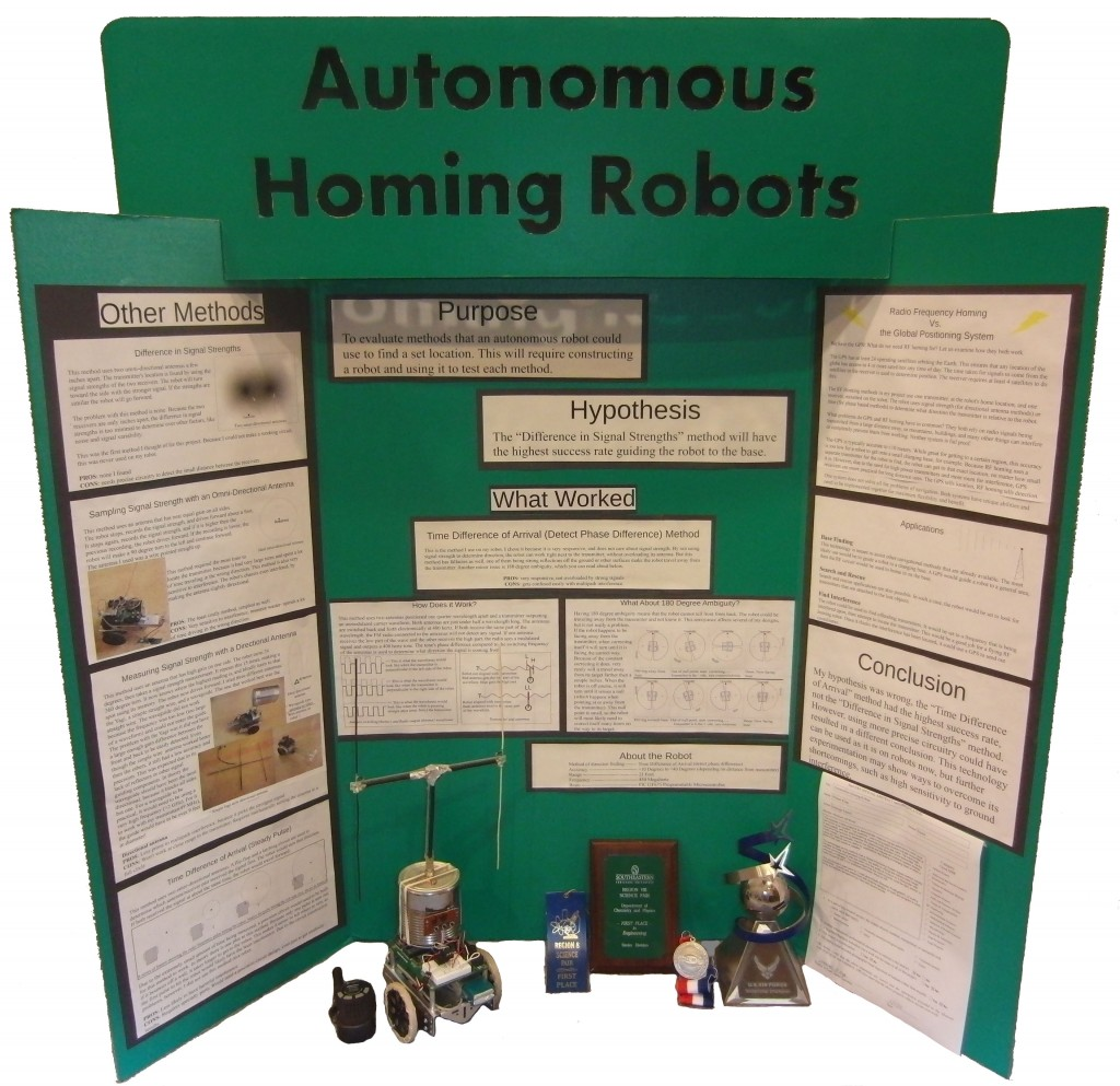 Science Fair Board - Homing Robots